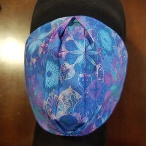 Zen Blue and Purple Flower Cotton Facemask